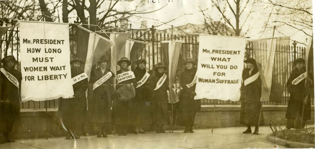 College Women Picketing at WH