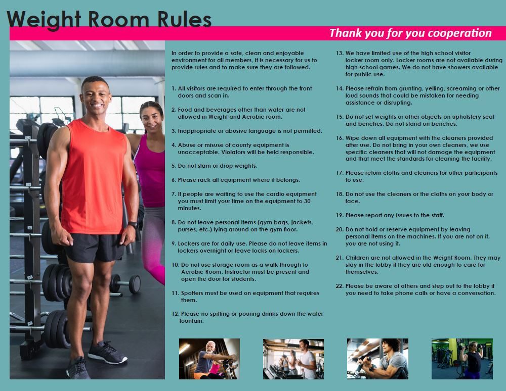 VGCC Weight Room Brochure page 2