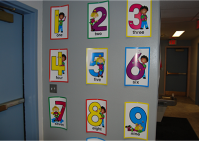 Wall with numbers