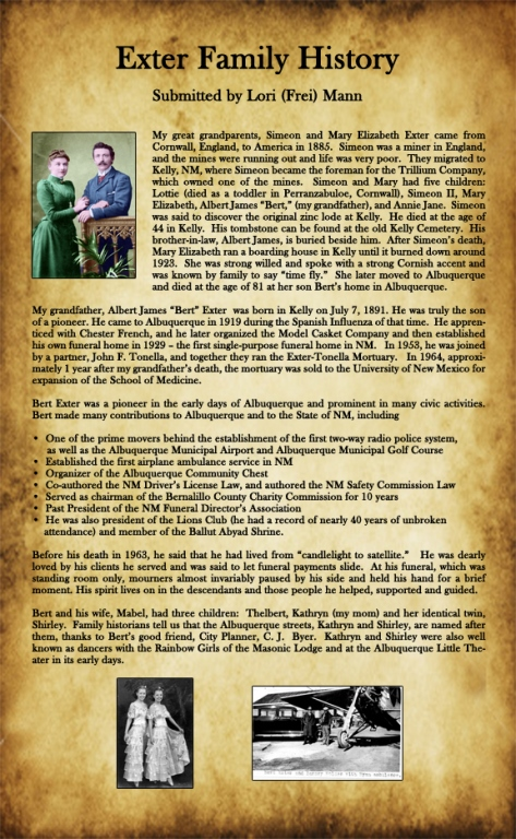 Exter Family History Page by Lori Mann