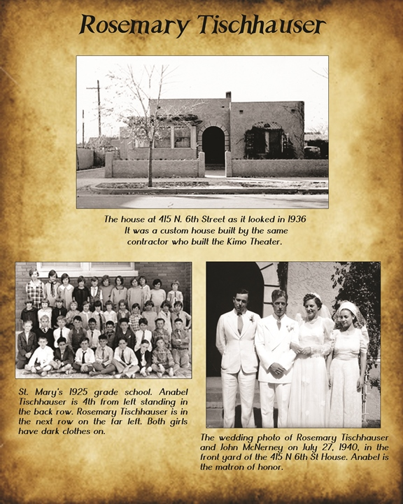 Rosemary Tischhauser Family History Page