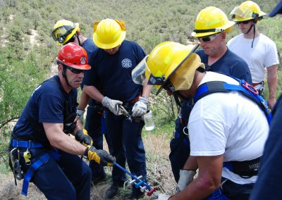 BCFD Academy conducting a rope rescue