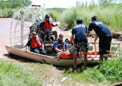 BCFC Academy conducting a water rescue