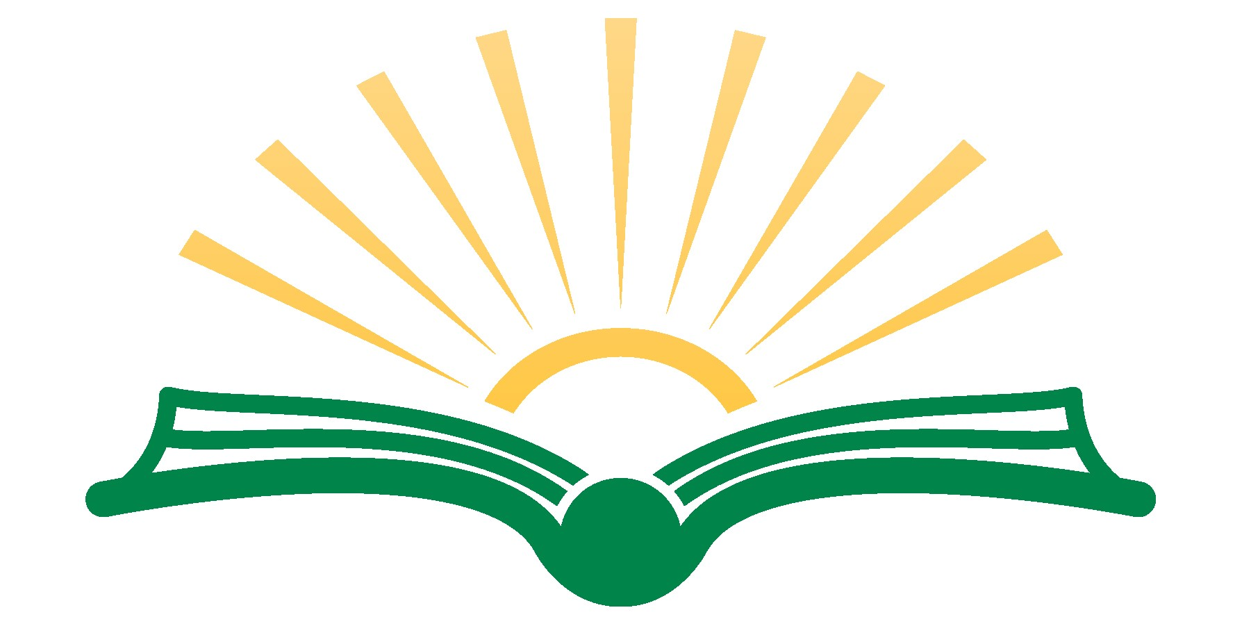 Clip art of book with a sun over the pages