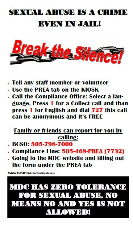 Poster of PREA in English