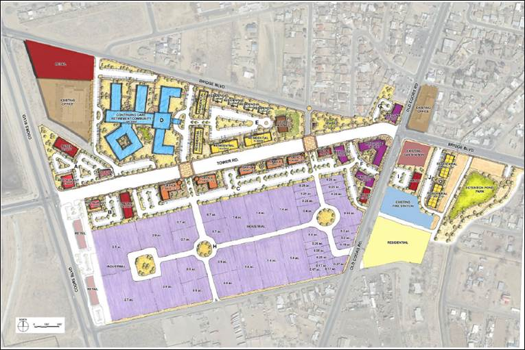 Map of Tower District Plan