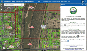 Map image of parcel search