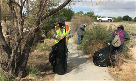 Bernalillo County and the Illegal Dumping Partnership Clean Up at Rio Bravo and Coors