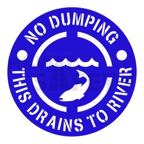 No Dumping This Drains to River