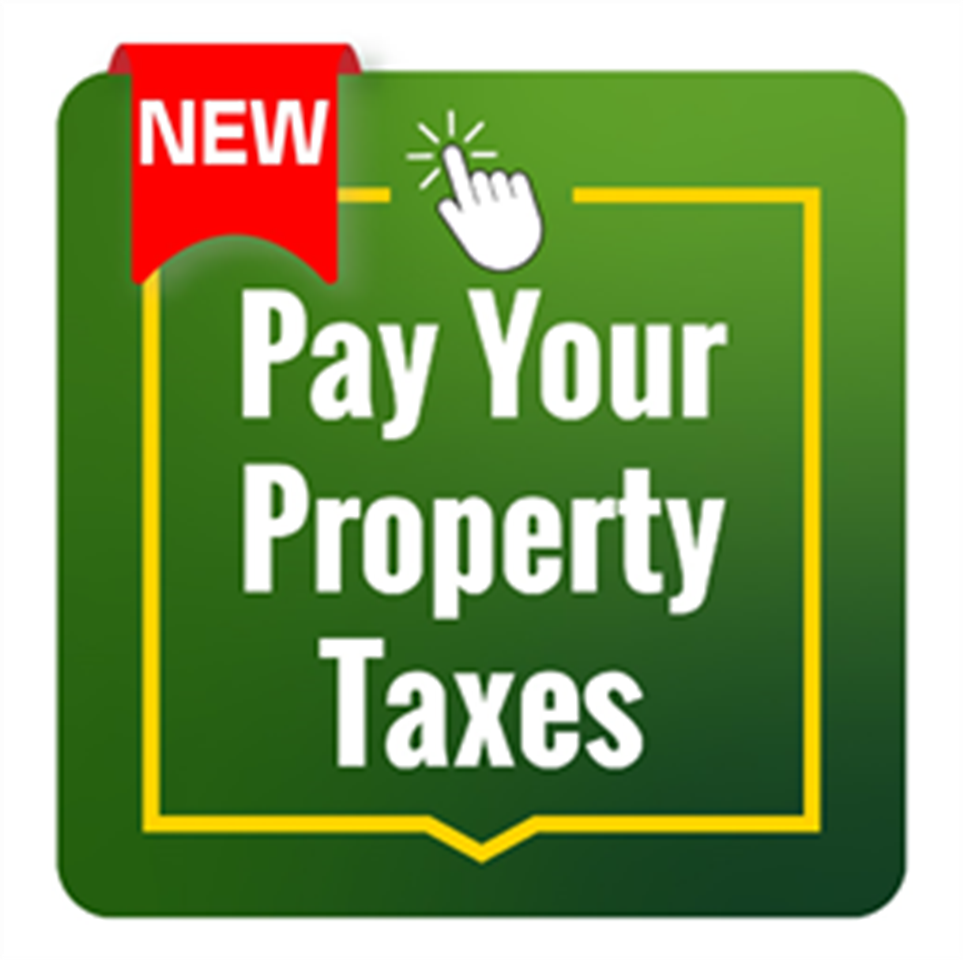 Text Graphic that says Pay Your Property Taxes